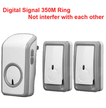 w/ 2 emitters+1 receiver bell wireless doorbell Waterproof 380 Meter door chime 48 melodies door ring digital signal door bell