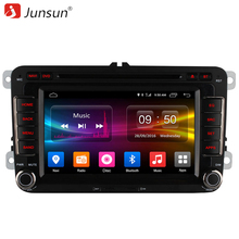 Junsun 1024*600 Android 6.0 Car Radio DVD Player For VW Passat POLO GOLF Skoda Seat Leon Quad Core with GPS Navigator 4G LTE FM(China)