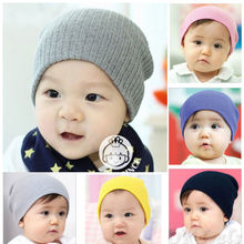 1 PC 9 Color Soft New Unisex Baby Girl Boy Newborn Cotton Crochet Knitted Beanie Hat Soft Winter Autumn Warm Cap(China)