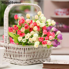 High Quality Artificial Flowers Simulation plants Home Decorative Green Plastic Plant 7 Fork Spring Grass Retail