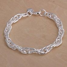 Free Shipping Wholesale silver bracelet, 925 fashion silver plated jewelry Purple Bracelet /IXAHWWTG QKLCNCAA