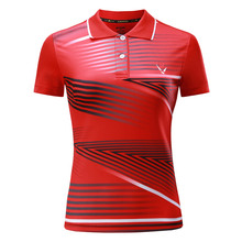 New badminton clothing summer quick dry ping-pong tennis women's Sports short-sleeved shirt Free shipping(China)