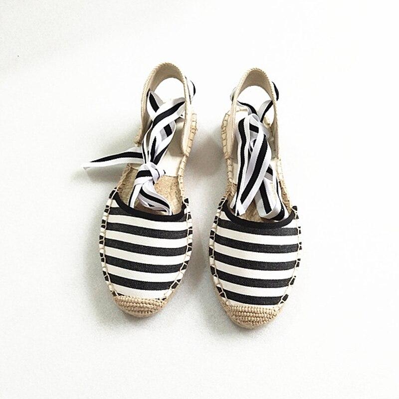 Canvas Summer Women's Espadrille Sandals Flats Ankle Strap Hemp Bottom Fisherman Women Shoes For 2018 SpringAutumn Women Loafer (10)
