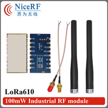 2pcs/lot Lora610 5000 meters long range 868MHz TTL Interface high Sensitivity -139 dBm uart wireless module with Rubber antenna(China)