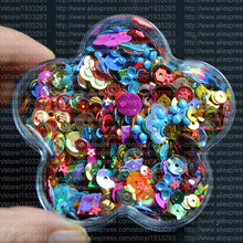 5000Pcs/lot aprox 50grams Mix size Mix Color loose sequins beautiful crafts for sewing/webbing Diy accessory kids DIY