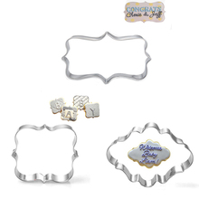 Three kinds of blessing lace box stainless steel sugar mold cookie cutter