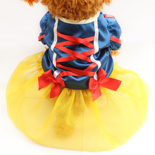 Armi store Red Ribbons Decorate Dog Dress Dogs Girl  Princess Dresses 6071029 Pet Fashion Skirt Clothing  XS, S, M, L, XL