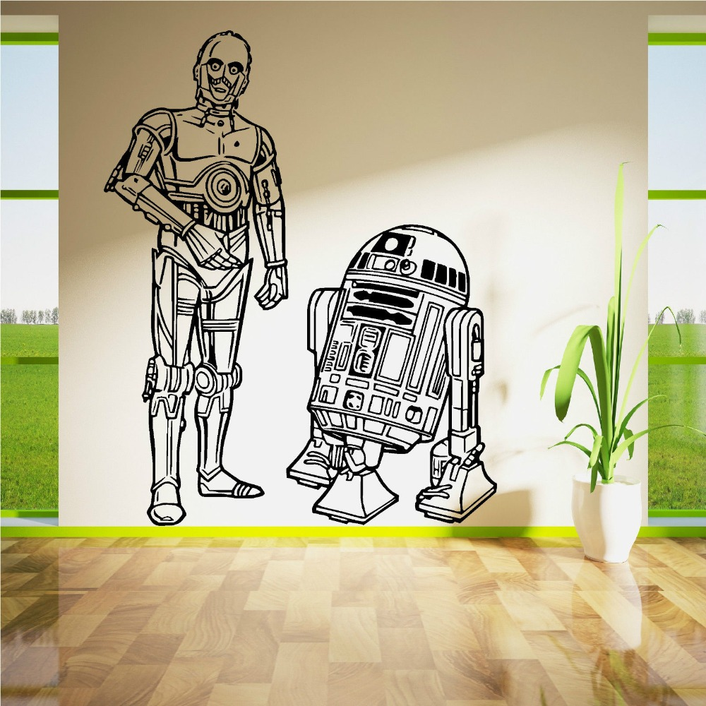 Starwars R2d2 Vinilo El Arte De Pared citar pegatina C3po Droids Jedi Star Wars