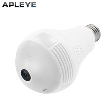 APLEYE 1.3MP Wireless IP Camera E27 LED Bulb Light Panoramic Wi-Fi Lamp FishEye WIFI Camera CCTV Home Security Mini P2P Camara
