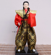 Unique Japanese samurai with Sword Figurines home decoration craft samurai novelty gift Vintage doll(China)