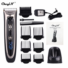 Hair-Trimmer Electric-Hair-Clipper Ceramic Blade Professional Digital Adjustable Rechargeable