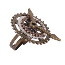 Vintage SteamPunk Mechanical Watch Gear Rings for Male Female jewelry Accessories Christmas gifts T4350