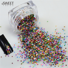 SWEET TREND Colorful Bottle Tips 2g/Box Thin Paillette Nail Shining Glitter Nail Sparkly Sticker Tips Manicure LAY06
