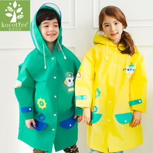 Student Cartoon Raincoat Baby Children Kids Girls boys rainproof Rain Coat Waterproof Poncho Rainwear Waterproof Rainsuit(China)