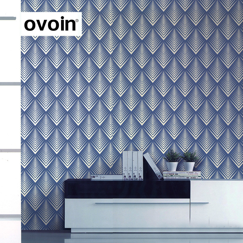 Modern Textured Embossed 3D Stereoscopic Wallpaper Vinyl Geometric Wall Paper Roll for Wall Bedroom Living Room<br>