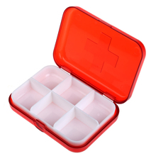 2017 Hot Sale Medical Pill Box 6 Slots Tablet Medicine Storage Dispenser Pill Case Organizer Eco-Friendly