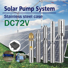 Solar deep well water pump, 72V, 1100watt, Permanent magnet synchronous brushless DC motor ,Stepless frequency conversion