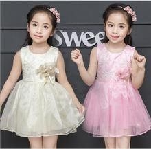 Little Girl Wedding Dress 2017 New Girl Flower Dresses Elegant Cute Baby Girls Party Dresses Fashion Princess Belle Costume