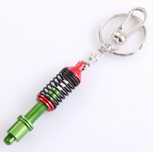 Suspension Keychain Key Chains Ring Keyrings Car Auto Coilover Spring Shock Absorber for Mercedes Audi VW Toyota Kia Nissan(China)