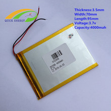 3.7V 4000mah (polymer lithium ion battery) Li-ion battery for tablet pc 7 inch 8 inch 9.7 inch 10.1 inch [357095]