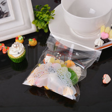 "50PCs ""Handmade"" Letter Lace Pattern PP Self Adhesive Seal Plastic Bags Cookie Storage Gift Package 2016 NEW 14cmx10cm"