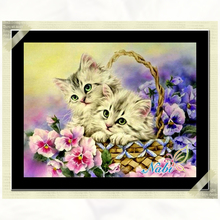 Picture of diamond mosaic handmade cat cross stitch crystal round diamond sets unfinished decorative full diamond embroidery
