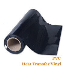 PVC Vinyl Transfer Paper and Heat Transfer Vinyl with Korean quality Black Color Vinyl Flex Flim 0.51cm*1m