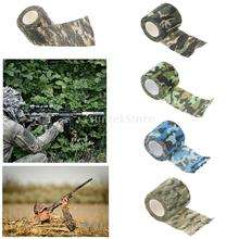 5CM x 4.5M Outdoor Camouflage Wrap Rifle Gun Hunting Waterproof Camo Stealth Duct Tape