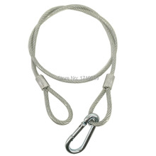 40 pcs/lot Stainless Steel Rope Loading Weight 40kg ,Wire Safety Cables With Looped Ends For Securing Stage Lighting