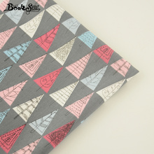 Booksew Quilting Cloth 100% Cotton Twill Fabric Triangle Tree Patterns Tecido Tela Sewing For Baby Beding Dolls Patchwork Craft(China)