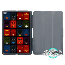 Many Hero The Flash Batman Green Lantern Case For Apple iPad Mini 1 2 3 4 Air Pro 9.7 Stand Smart Folio Cover
