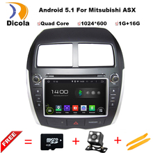 Quad Core Android 5.11 CAR DVD GPS navigation FOR Mitsubishi ASX (2010-2012) car audio,car stereo Multimedia support DAB;DTV;OBD