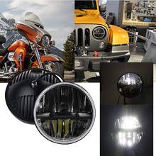 7'' led headlight for 07-15 Jeep Wrangler JK Hummer Motorcycle H4 High/Low 7inch 36W led headlight led Driving lights