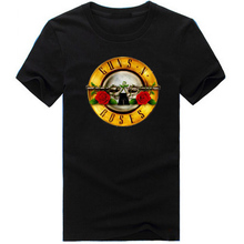 New arrival Guns N Roses Rock Band Short Sleeve T-shirt Men Hip Hop cotton 3D T Shirts round neck Top Tees size M-3XL