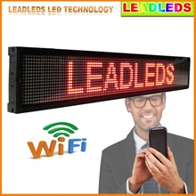 Red Bright Leds Wifi/U disk Programmable LED Scrolling Message Sign Board for Advertising(China)
