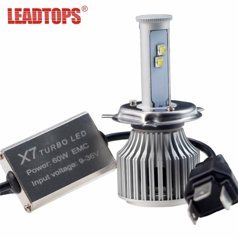LEADTOPS H4 H7 H1 H3 9005 9006 9007 H11 LED Headlight 9600ML Super Bright Fog Light for Flexible Car (2pcs) BE<br>