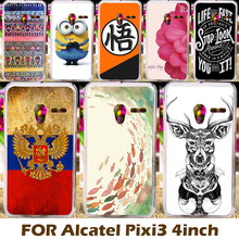 Cellphone Case Cover For Alcatel OneTouch Pixi 3 Mobile Phone Cases 4013 4050 4013A OT 4013X 4G Version 4013D 4050X Coque Shell