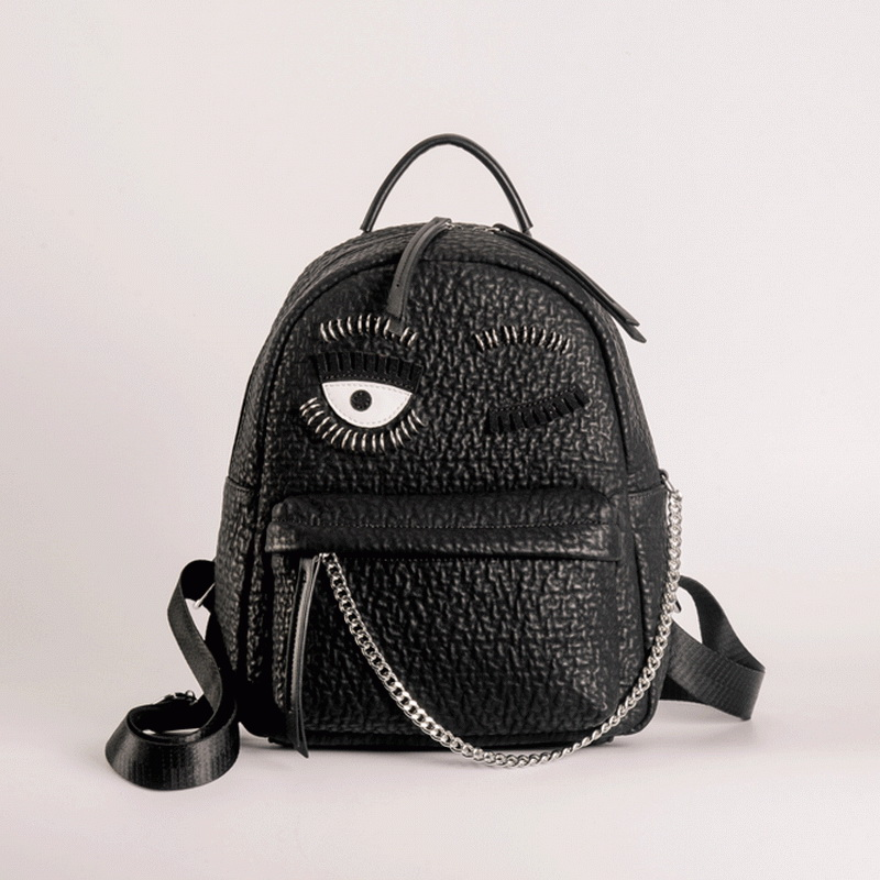 2018 New Brand Design Women Leather Backpacks Big Eyes Blink of an Eye Backpacks Cute School Bags For Teenager Fashion Sac a Dos<br>