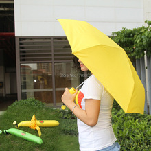 Novelty Items Fashion fruit banana umbrellas 3 folding umbrella the sun rain umbrellas for women Free Shipping