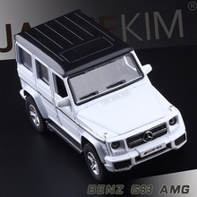 High Simulation Exquisite Diecasts & Toy Vehicles: RMZ city Car Styling Benz G63 AMG Off-Road 1:38 Alloy Diecast SUV Model(China)