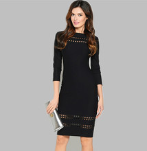 Fall 2017 Fashion Women Black Vintage Sexy Club Bodycon Party Dresses Autumn Long Sleeve Purple Mesh Casual Pencil Mini Dress