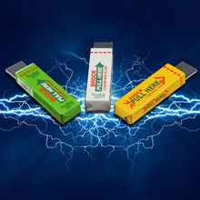 3 pcs New Joke Chewing Gum Shocking Toy Gadget Prank Trick Gag Electric Shock Hot Gags Practical Jokes Toys(China)