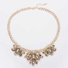 New Luxury Fashion Brand of Women jewelry Crystal Necklaces & Pendants Large Collar statement necklace N315