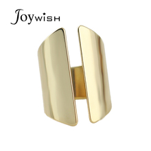 Brand Rings Punk Style Brass Knuckles Free Fashion Design Jewelry Alloy Gold-Color Loop Round  Rings For Women