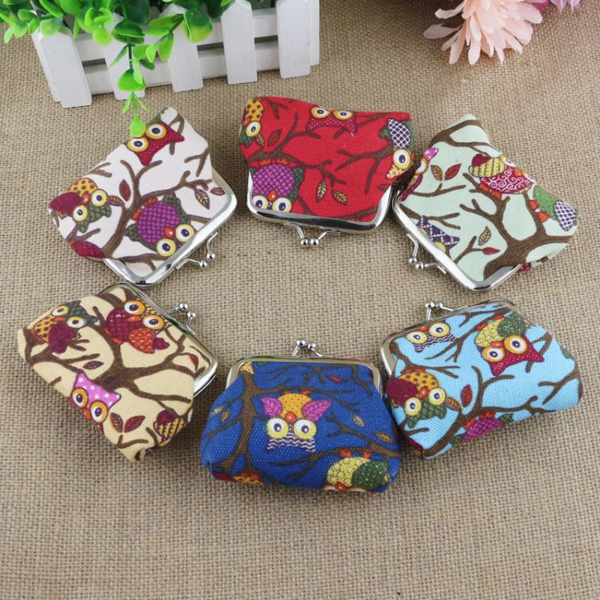 Carteras Mujer Women Clutch Female Mini Coin Purse  Women Lovely Style Lady Small Wallet Hasp Owl Purse Clutch Bag<br><br>Aliexpress