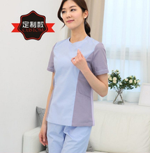 Fashion Medical Scrub Sets Clothes Cosmetic Surgery Hospital Workwear Beauty Shop Dental Clinic Doctors Nurse Overalls Lab Coat
