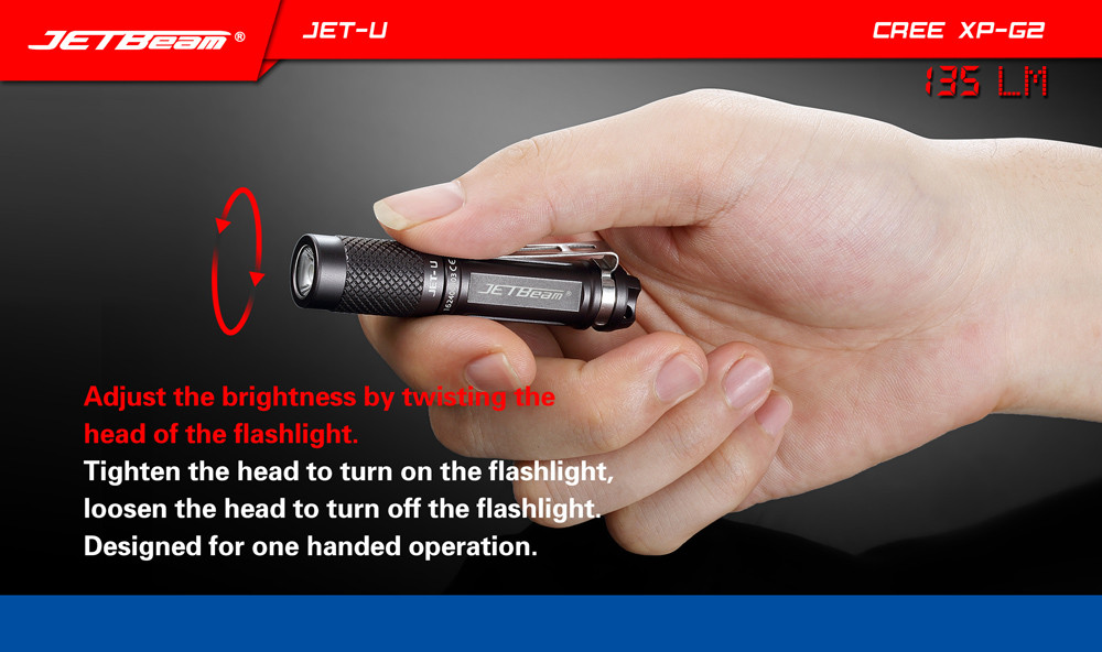 JETbeam JET-U(JET-) Cree XP-G2 135LM Mini Portable Waterproof LED Flashlight<br>
