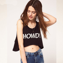 Free Shipping howdy letter printing black loose short design vest(China)