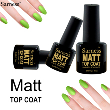 Sarness New Arrival Matte Top Coat Soak Off Gel Nail Polish Abrasive Top Lacquer Lamp Nail Gel Semi Permanent Clear Gel Varnish(China)