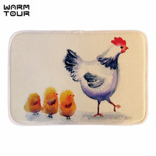 Buy WARM TOUR Funny Doormat Decor Hen Chicks Home Decorative Indoor Outdoor Mats Bathroom Mats Short Fabric Floor Mats for $11.73 in AliExpress store